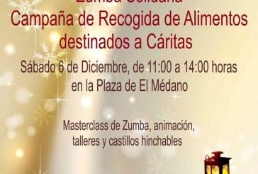 'Zumba Solidaria' de recogida de alimentos en El Médano