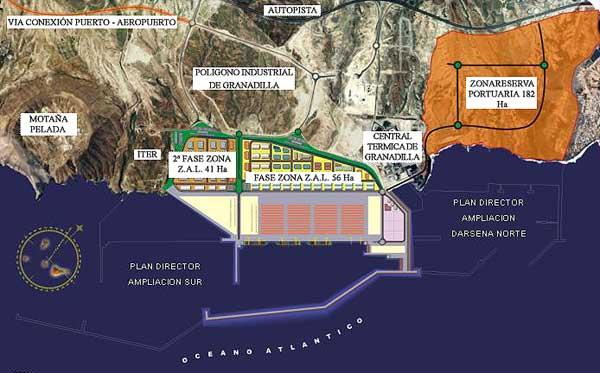 Continúan las inversiones en infraestructuras en el polémico Puerto de Granadilla de Abona