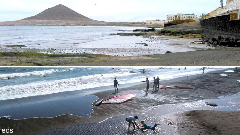 El problema de la falta de arena en las playas de El Médano: ¿A causa del Puerto Industrial?