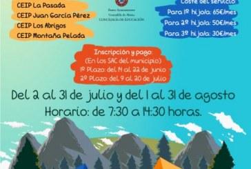 La inscripción al 'Campamento de Verano' del mes de agosto para niñ@s de infantil y primaria finaliza este viernes