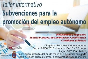 La inscripción al taller informativo 'Subvenciones para la promoción del empleo autónomo' finaliza este martes