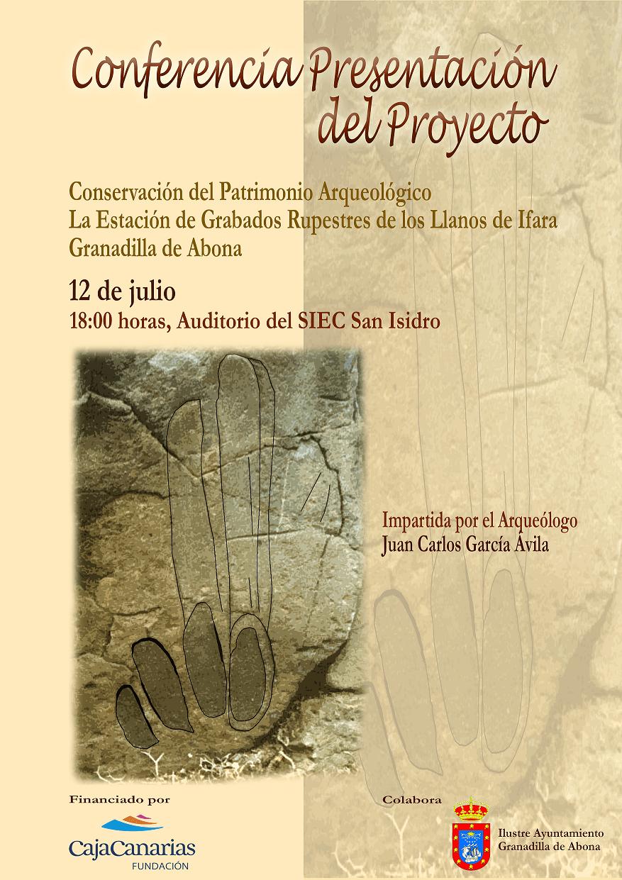Conferencia – presentación del proyecto 'Conservación del Patrimonio Arqueológico: La Estación de Grabados Rupestres de los Llanos de Ifara', este jueves en el SIEC