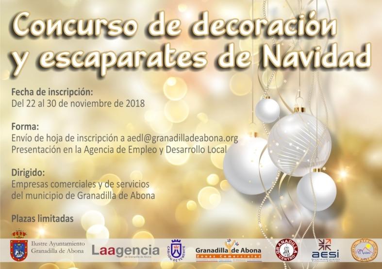 La inscripción al 'Concurso de Decoración y Escaparatismo de Navidad 2018', hasta el 30 de noviembre