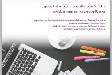 Programa 'EMPLÉATE', un proyecto de 'Empoderamiento y Empleabilidad para mujeres' mayores de 16 años, este jueves en el SIEC