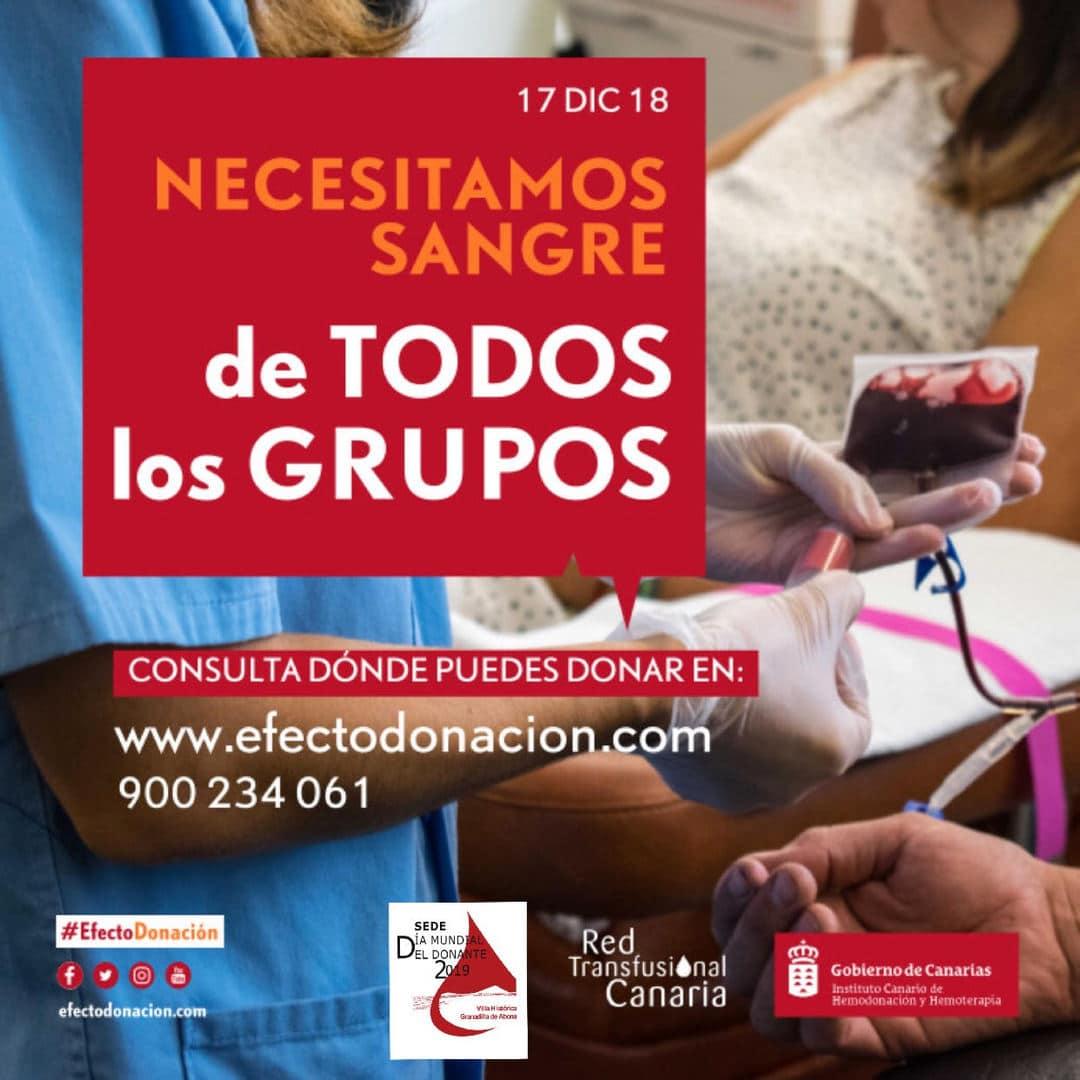 Invitación a donar sangre en estas fechas navideñas