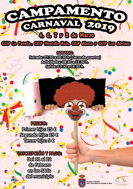 El periodo para inscribirse al 'Campamento de Carnaval 2019' finaliza este viernes 22 de febrero