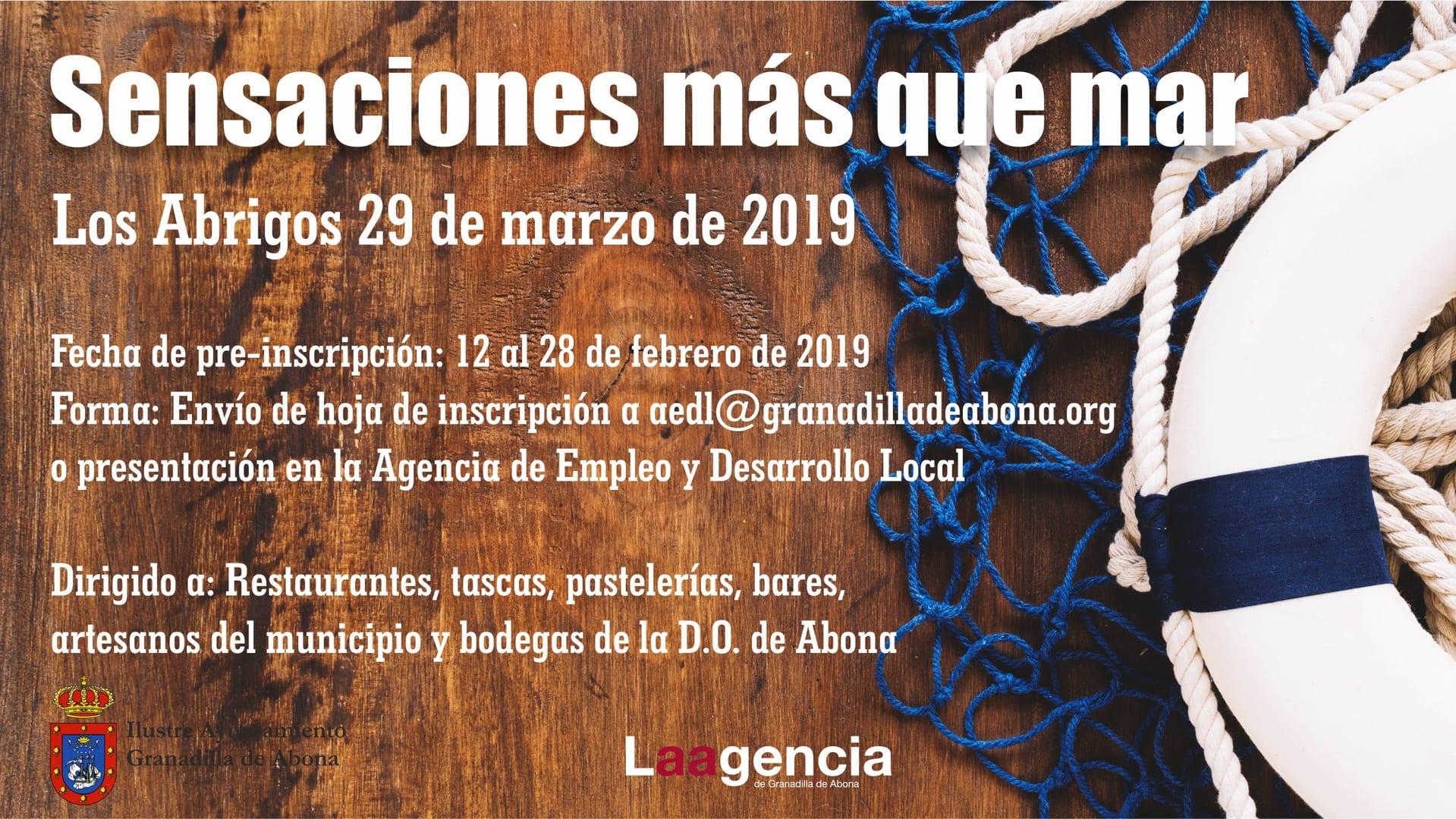 El plazo para preinscribirse al evento enogastronómico 'Sensaciones más que Mar' finaliza este jueves 28 de febrero