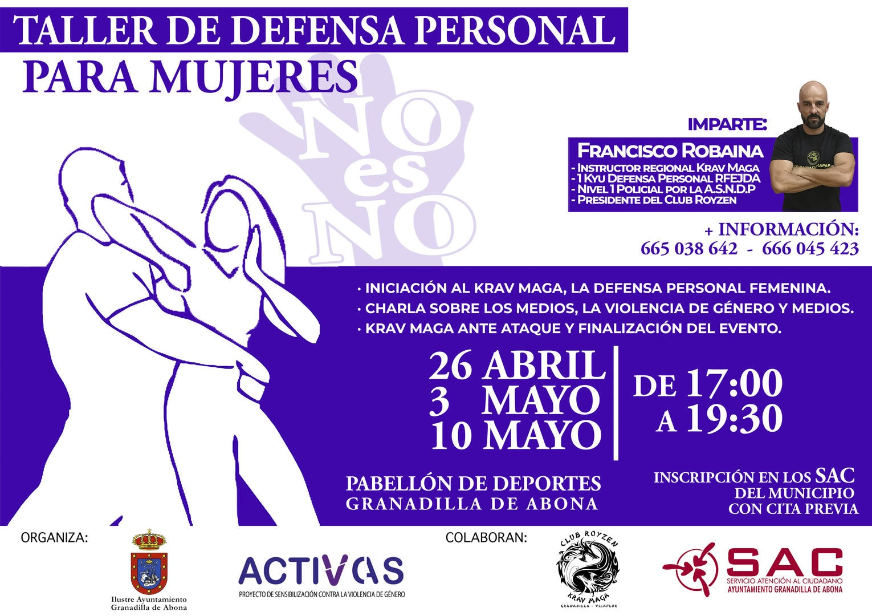 El taller gratuito de 'Autodefensa Personal para Mujeres', desde este viernes en el Pabellón Municipal