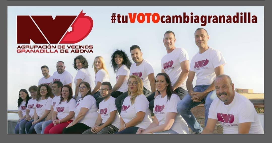 Agrupación de Vecinos Granadilla de Abona (AVG), con el lema 'Tú cambias nuestro municipio'