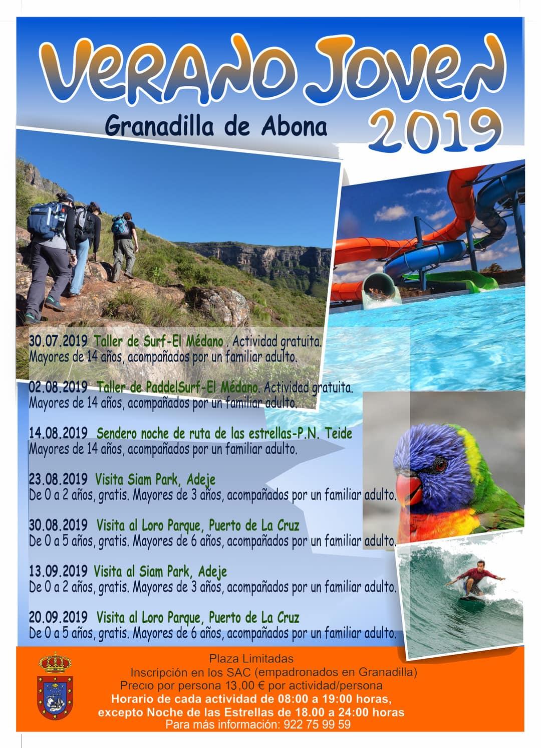 El plazo para inscribrise a la actividad 'Visita al Loro Parque' del 6 de septiembre, comprendida en el programa 'Verano Joven 2019', finaliza este miércoles