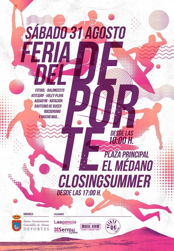 La 'XI Feria del Deporte' y 'Closing Summer' echan el cierre a las actividades de 'Sansofé 2019' este sábado en El Médano