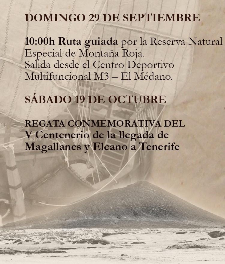 'Ruta guiada por la Reserva Natural de Montaña Roja' este domingo con motivo de la conmemoración del V Centenario de la Primera Vuelta al Mundo