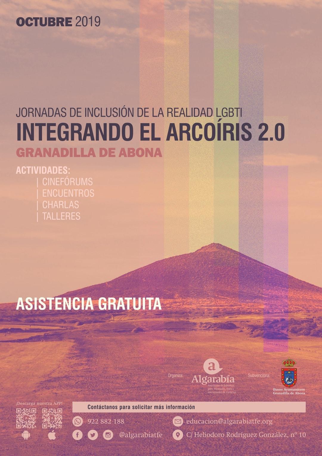 Las Jornadas de Inclusión de la Realidad LGBTI 'Integrando el Arcoíris 2.0', del 9 al 27 de octubre