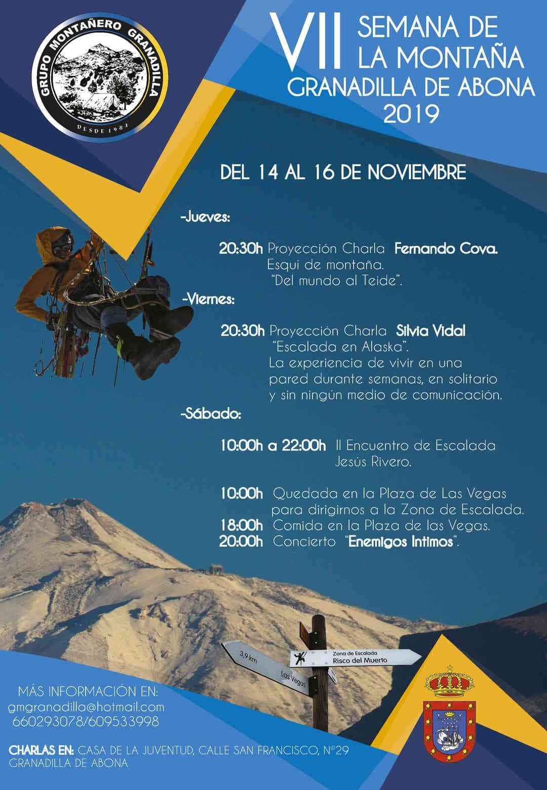 La 'VII Semana de la Montaña de Granadilla de Abona', del 14 al 16 de noviembre