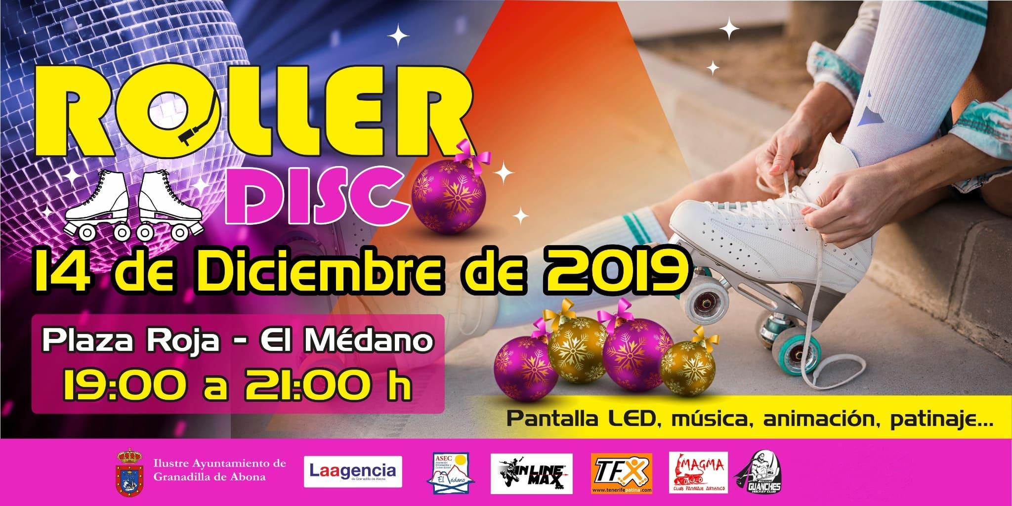 'Roller Disco de Navidad' este sábado en la Plaza Roja de El Médano