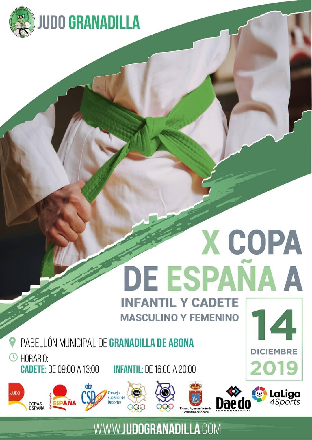 La 'X Copa de España A de Judo Infantil y Cadete' este sábado en el Pabellón Municipal