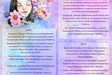 Las actividades con motivo del 'Día Internacional de las Mujeres', desde este sábado hasta el 21 de mayo