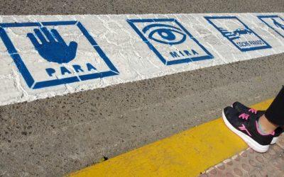Pasos peatonales con 'pictogramas': una iniciativa pionera en Canarias realizada en Los Abrigos