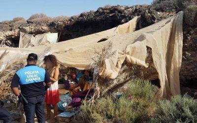 L@s 'okupas' de la costa del Sur de Tenerife, su problemática y desalojo (I)